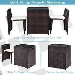 3pcs outdoor patio rattan furniture set