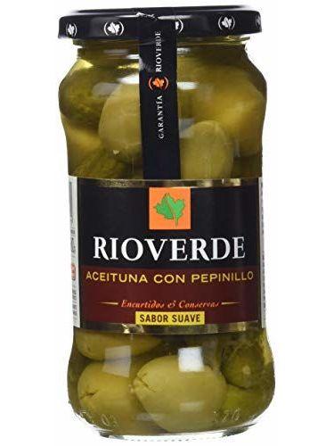 Rioverde - Aceitunas Gordal Con Pepinillo - 180 G