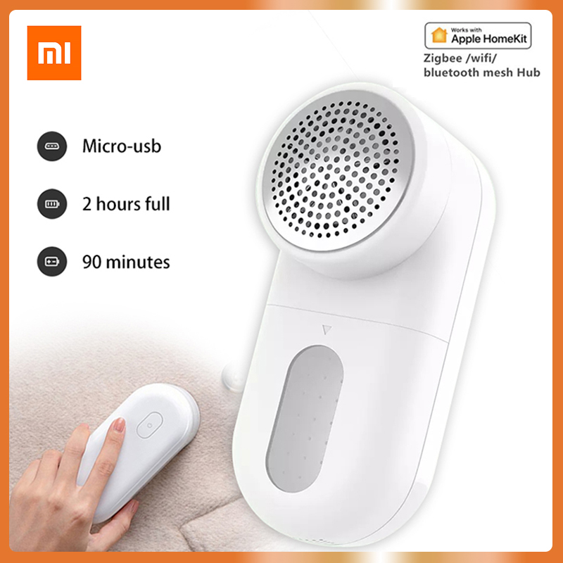 XIAOMI MIJIA 90 Min Long Working Lint Remover Trimmer 0.35mm Clothes Fuzz Pellet Trimmer Machine Portable Charge Fabric Shaver