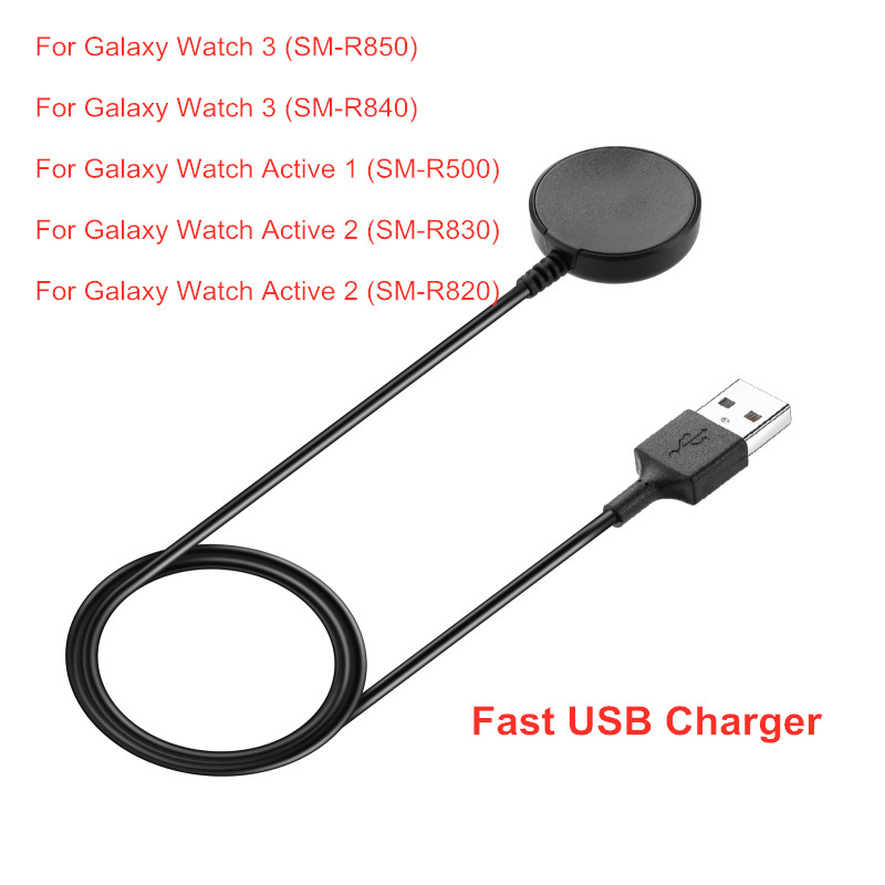 USB Charging Cable For Samsung Galaxy Watch 3 Active 1 2 Power Adapter Wristband Charger Dock Adapter Cable Smart Accessories