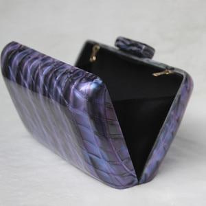 Image 4 - Luxy Moon kobiety akrylowa torba niebieska wieczorowa kopertówka luksusowa torebka ślubna w stylu Vintage torebka na ramię na imprezę ZD1513