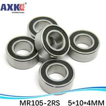 Free Shipping High quality 10PCS MR105-2RS ABEC-5 5x10x4 mm Miniature Ball Bearings MR105RS L1050 free shipping 1pcs s6926 2rs stainless steel shielded miniature ball bearings size 130 180 24mm