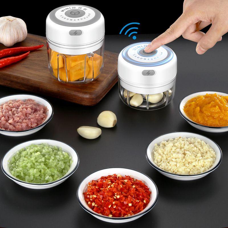 New Electric Mini Garlic Masher Vegetable Grinder Wireless Portable Electric Crusher Electric food Garlic Machine kitchen Tools