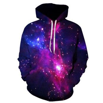 цена на Various Styles Designs Space Galaxy 3D Hoodies Men/Women 3d Hooded Sweatshirts Print Purple Nebula Clouds Autumn Winter Hoodie