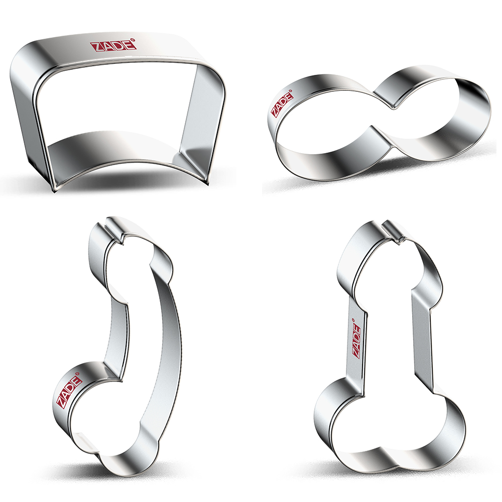 ZADE Sexy Cookie Cutter Sexy Bra,Nurse Cap,JJ,Biscuit / Fondant / Pastry Cutter - Stainless Steel