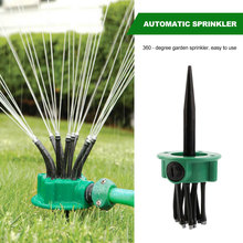 360 Degree Garden Automatic Sprinkler Lawn Gardening Irrigation Tool can be Adjusted at Any Angle Spray Watering Nozzle Shipping