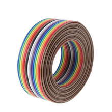 20P 1.27mm Pitch Rainbow Flat Line Flat Color Ribbon DuPont Wire Soldered Cable Connector Wire Durable 5M