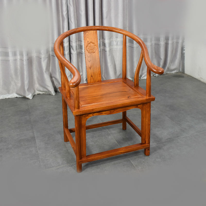 H1 New Chinese Palace Chair Ming And Qing Chinese Chair Solid Wood Executive Officer Chair Antique Circle Chair Throne Chair