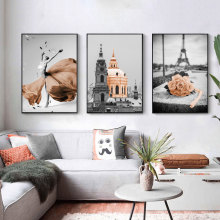 Retro Black and White Landscape Art Picture Home Decor Nordic Canvas Painting Wall Art Brown Print and Poster for Living Room wall art canvas painting classical famous abstract picture home decor nordic print black white poster painting for living room