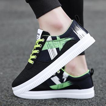 Męskie buty wulkanizowane płócienne platformy płaskie męskie modne buty na deskorolkę czarne zielone młodzieżowe młodzieżowe luksusowe wulkanizowane trampki tanie i dobre opinie Thestron Płótno Fabric Totem Stałe Dla dorosłych Syntetyczny Wiosna jesień 2290-5 Lace-up Mieszkanie (≤1cm) Pasuje prawda na wymiar weź swój normalny rozmiar