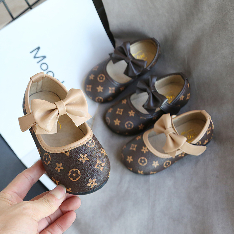 2018 New Products Children Small Leather Shoes Girls Anti-slip Princess Shoes Korean-style Leather Shoes Children Soft-Sole Bow
