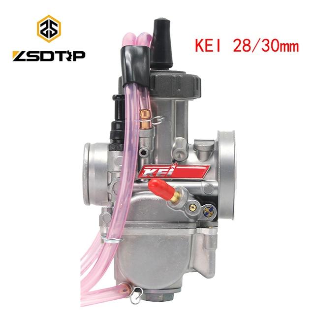 ZSDTRP carburateur universel 28/30mm PWK, compatible avec Keihin Mikuni Koso, pour ATV Suzuki Yamaha Honda
