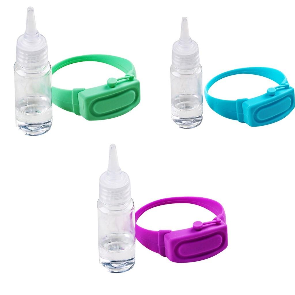 Wristband Hand Dispenser This Wearable Hand Sanitizer Dispenser Pumps Disinfecta 3X Handwash Gel Sanitizer Bracelet Belt