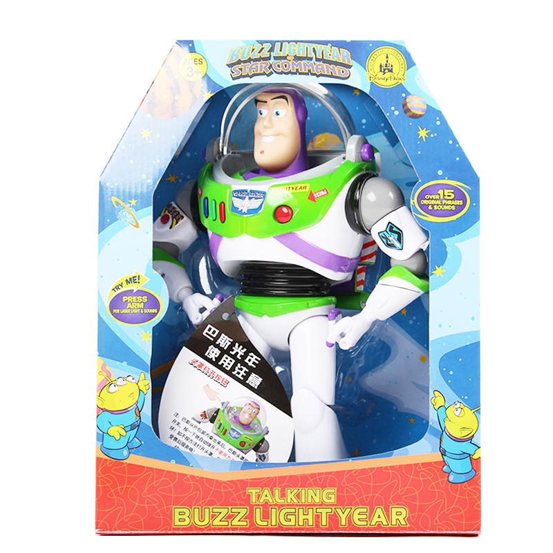 Disney Toy Story 4 Buzz Lightyear Movie Soundtrack with Wings Glowing Anime 33cm Action Figures Model Toys for Children Gift image