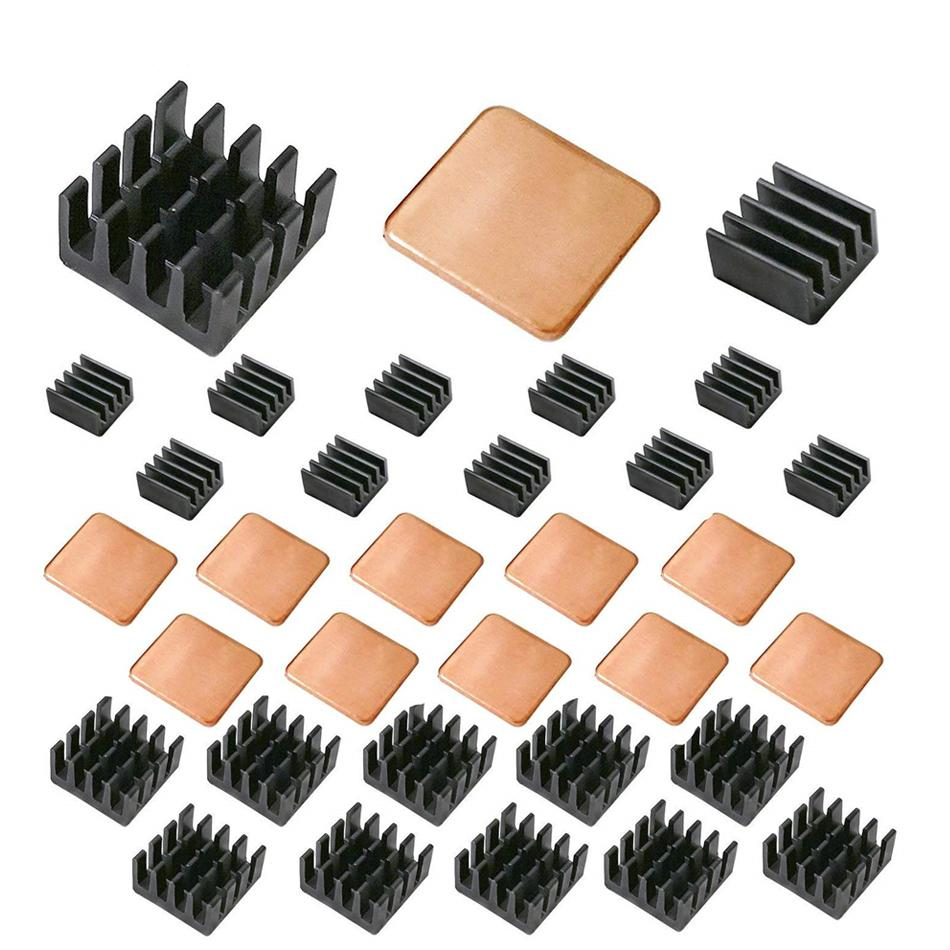 Wholesale Raspberry Pi Heatsink Kit Copper Aluminum Heatsink For Cooling Cooler Raspberry Pi 3 Pi 2 Pi Model B+ 30 PCS/LOT