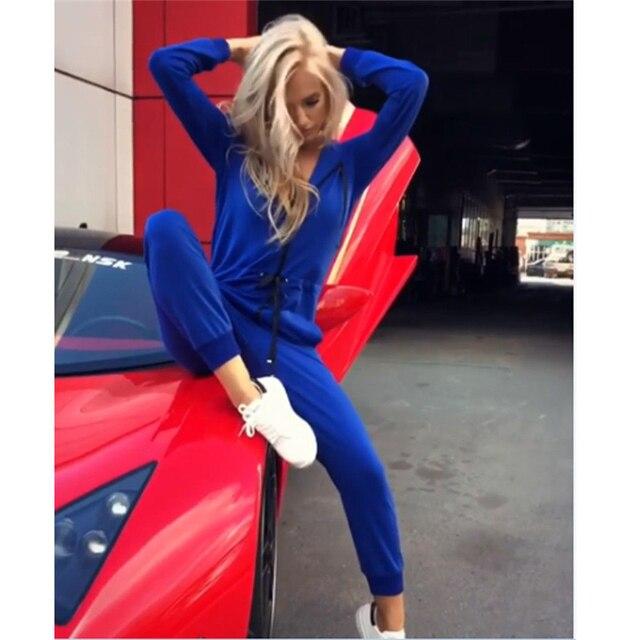 New Fashion Women Sexy Jumpsuit Long Sleeve High Waist Jumpsuit Hoodies Street Wear Drawrsing Jumpsiut Romper Long Trousers 5