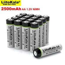 Nuova batteria ricaricabile Liitokala 1.2V AA 2500mAh Ni MH 2.5A aa per batterie giocattolo mouse telecomando pistola temperatura