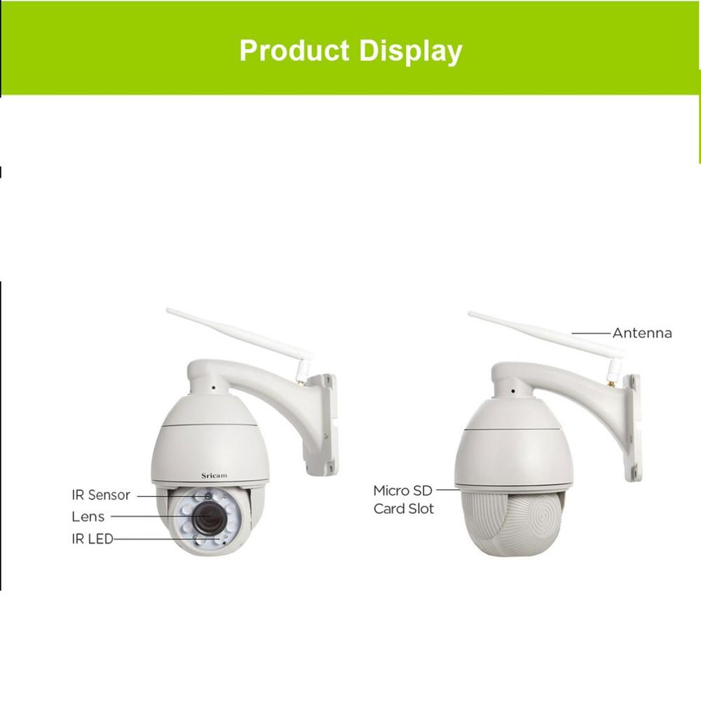 Wifi PTZ IP Camera 1080P 3MP 5MP Super HD 5X Zoom Two Way Audio Wireless PTZ Cam Outdoor 60m IR Video Home Security Camera P2P - 3