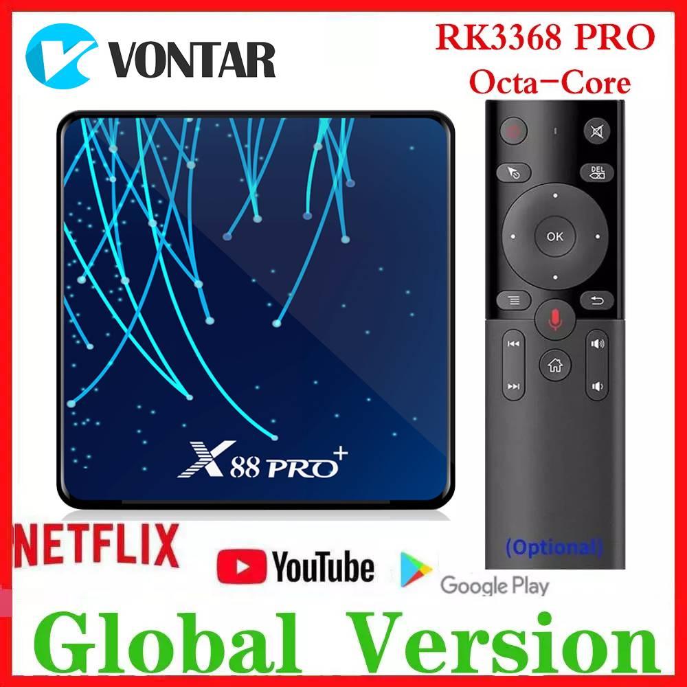 RK3368 PRO OctaCore TV BOX Android 9.0 4GB RAM MAX 128GB ROM TV Box USB3.0 Google Voice Assistant Netflix Media Player 32G/64G
