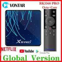 RK3368 PRO OctaCore TV BOX Android 9.0 4GB di RAM MAX 128GB di ROM TV Box USB3.0 Google Assistente Vocale netflix Media Player 32G/64G