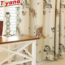 Madagascar Cartoon Horse Curtains for Kids Room Animal Zoo Boys Childs Blackout TWH077#40