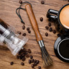 Coffee Grinder Cleaning Brush with Natural Bristles Lanyard Coffee Machine Brush Cleaner for Barista Home Kitchen Coffeeware