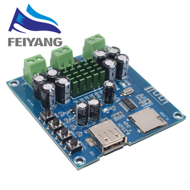 10 adet XH M422 DC 12 24V TPA3116D2 50W + 50W Bluetooth 4.0 amplifikatör devre kartı modülü ile Bluetooth U Disk TF kart oyuncu