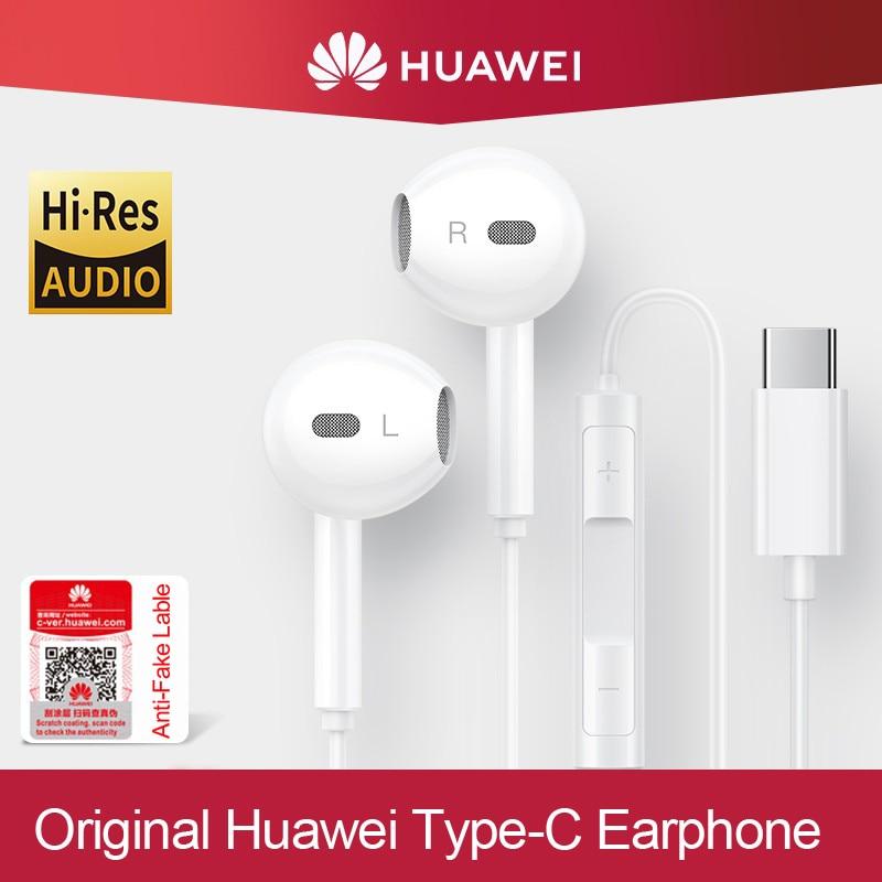 Оригинальные наушники HUAWEI типа C CM33 с микрофоном и регулятором громкости для HUAWEI Mate 10 20 Pro 20 X RS P10 20 30 P20 Lite