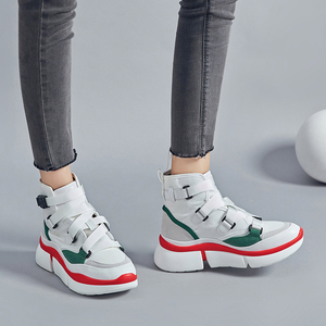 Image 2 - Lucyever femmes mode bottines 2019 automne hiver confortable travail chaussures femme chaussures plates plate forme chaussures baskets hautes