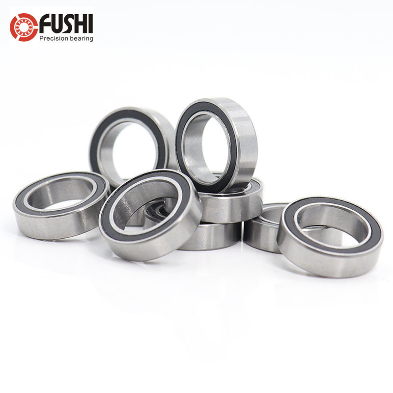 <font><b>6700RS</b></font> 10*15*4 (mm) 10Pieces Bearing ABEC-5 61700 6700 63700 Chrome Steel Ball Bearings With Black Rubber Seal image