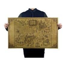 Mapa Do Mundo Mágico De Em Torno Do Grande 51*32.5 centímetros Clássico Poster Movie Poster Paper Retro Vintage do Ofício de papel