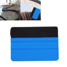 Durável handheld borda feeled rodo vinil ferramenta de aplicação macio carro envoltório raspador raspagem quadrado azul decalque