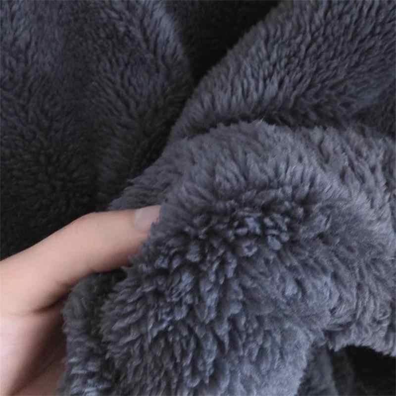 Толстовка для косплея из аниме, флисовые серые толстовки с ушками, Осень-зима, мужские и женские плюшевые милые пальто, куртка