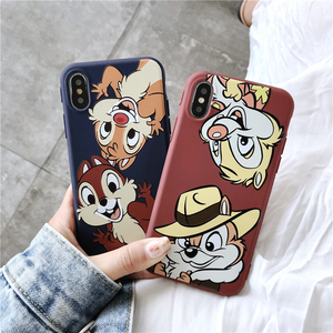 Cute Squirrel Phone Case For iphone 7 Case Cartoon Chip Dale Coque For iphone 6 6S 8 Plus X XS XR Soft TPU Back Cover 2018 New(China)