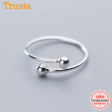 Finger-Rings Opening S925 Jewelry Wedding-Party 925-Sterling-Silver Fashion Women Real
