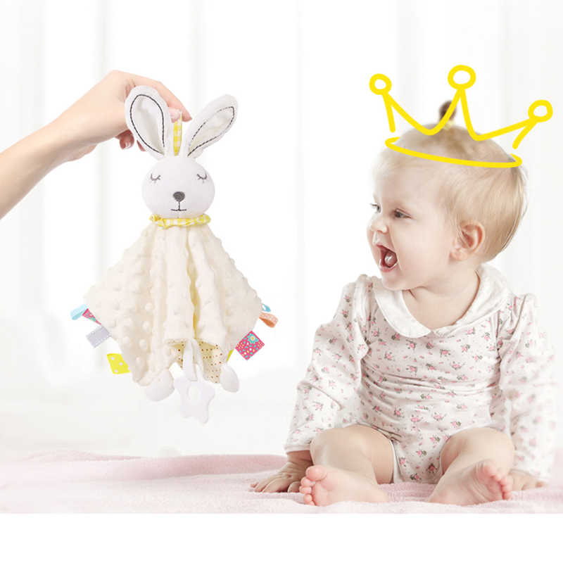 طفل محشوة ألعاب حيوانات تهدئة استرضاء منشفة لينة أفخم مريح لعبة منشفة مهدئا منشفة طفل النوم اللعب ألعاب من نسيج مخملي