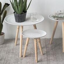 Bandeja creativa mesa pequeña mesa de centro mesa de comedor mesa de noche decoración muebles patas de madera maciza Mesa Redonda