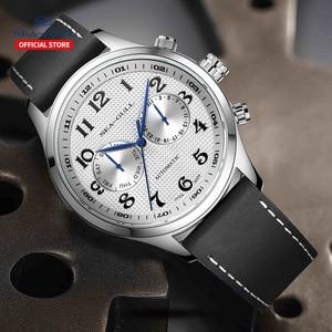Image 5 - שחף גברים של שעון עסקי מזדמן עמיד למים חגורת גברים של שעון מכאני אוטומטי משולבת 6063 מאסטר סדרה