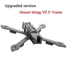 """نسخة محدثة Xhover Stingy V2 5 """"الإطار بخيل صحيح X 5"""" FPV حرة هيكل حوامة رباعية عدة 5 مللي متر الذراع ل FPV سباق الطائرة بدون طيار"""