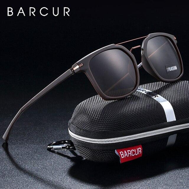 BARCUR Luxus Marke TR90 Rahmen Sonnenbrille für Männer Sonnenbrille Damen Sport Brillen