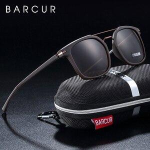 Image 1 - Barcur 高級ブランド TR90 フレームサングラス男性のためのサングラスレディーススポーツ眼鏡