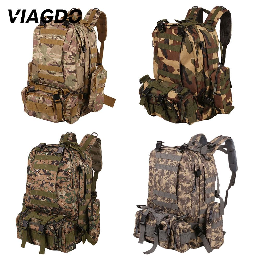 55L Tactical Backpack 4 In 1 Military 600D Outdoor Sport Bag Camping Hiking Travel Climbing Travel Backpack 2020 New Rucksack