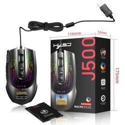 USB przewodowa mysz do gier dla graczy Pro mysz dla gracza na PC 6 przycisków z kółkiem przewijania 5 milionów cykli 3200DPI LED Optical 6D