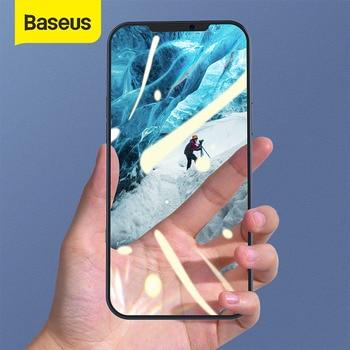 Baseus 2 قطعة 0.25 مللي متر الزجاج المقسى آيفون 12 برو ماكس غطاء كامل حامي الشاشة آيفون 11 12 Mini XR الزجاج فيلم كامل