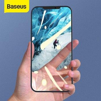 Baseus 2 pçs 0.25mm vidro temperado para o iphone 12 pro max cobertura completa protetor de tela para o iphone 11 12 mini xr filme vidro cheio