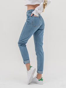 Mom Jeans Pants Push-Up Luckinyoyo High-Waist Large-Size Denim Women for with Ladies