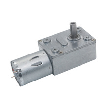 JGY370 high torque motor, strong self-locking force, turbine worm, 6V 12V 24V DC gear reduction motor, low speed motor 12v 45rpm electric metal reversible worm geared dc motor 6mm d shaped shaft high torque turbine worm gear box reduction motor