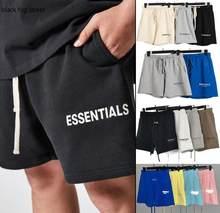 Шорты Мужские дышащие, брендовые модные дизайнерские штаны в стиле хип-хоп, спортивные султанки, одежда для улицы, Черные Серые