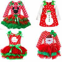 Puckcovi noël fille robe Deguisement enfant enfants coton robe à pois Vestido menina filles Dot Tutu Santa Clus Costume