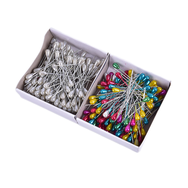 Wholesale 144pcs/set Colorful&white Positioning Needles DIY Sewing Tools Accessory Patchwork Locating Pearl Light Straight Pins
